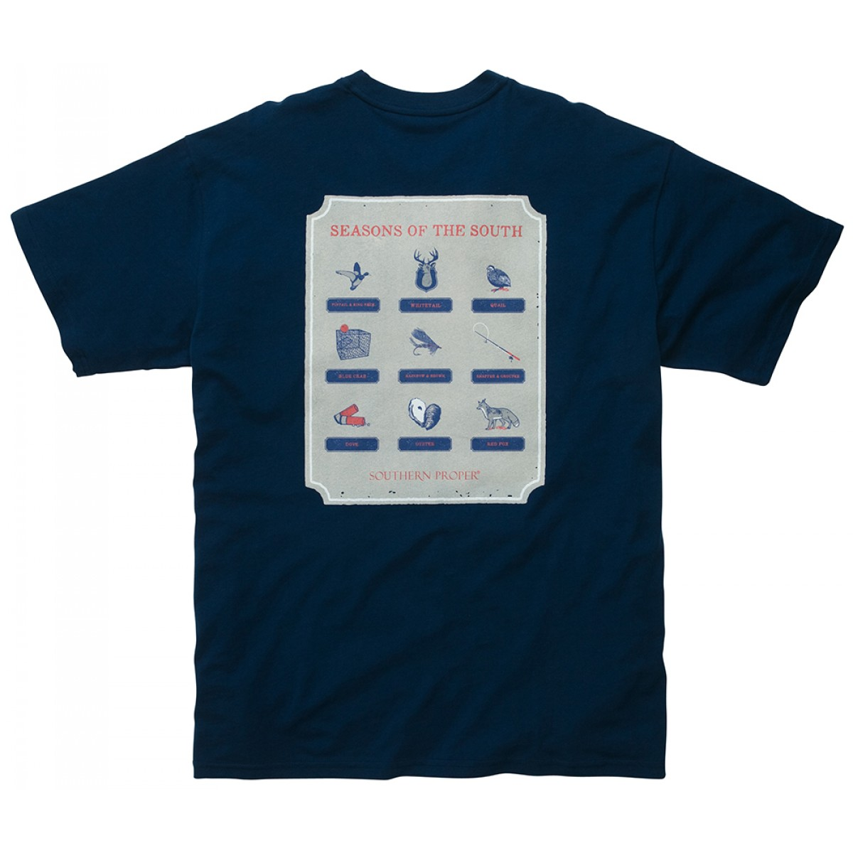 The Seasons Of The South Tee - Navy
